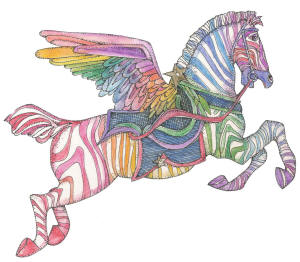flying zebra and all our rubber stamps available mounted or unmounted